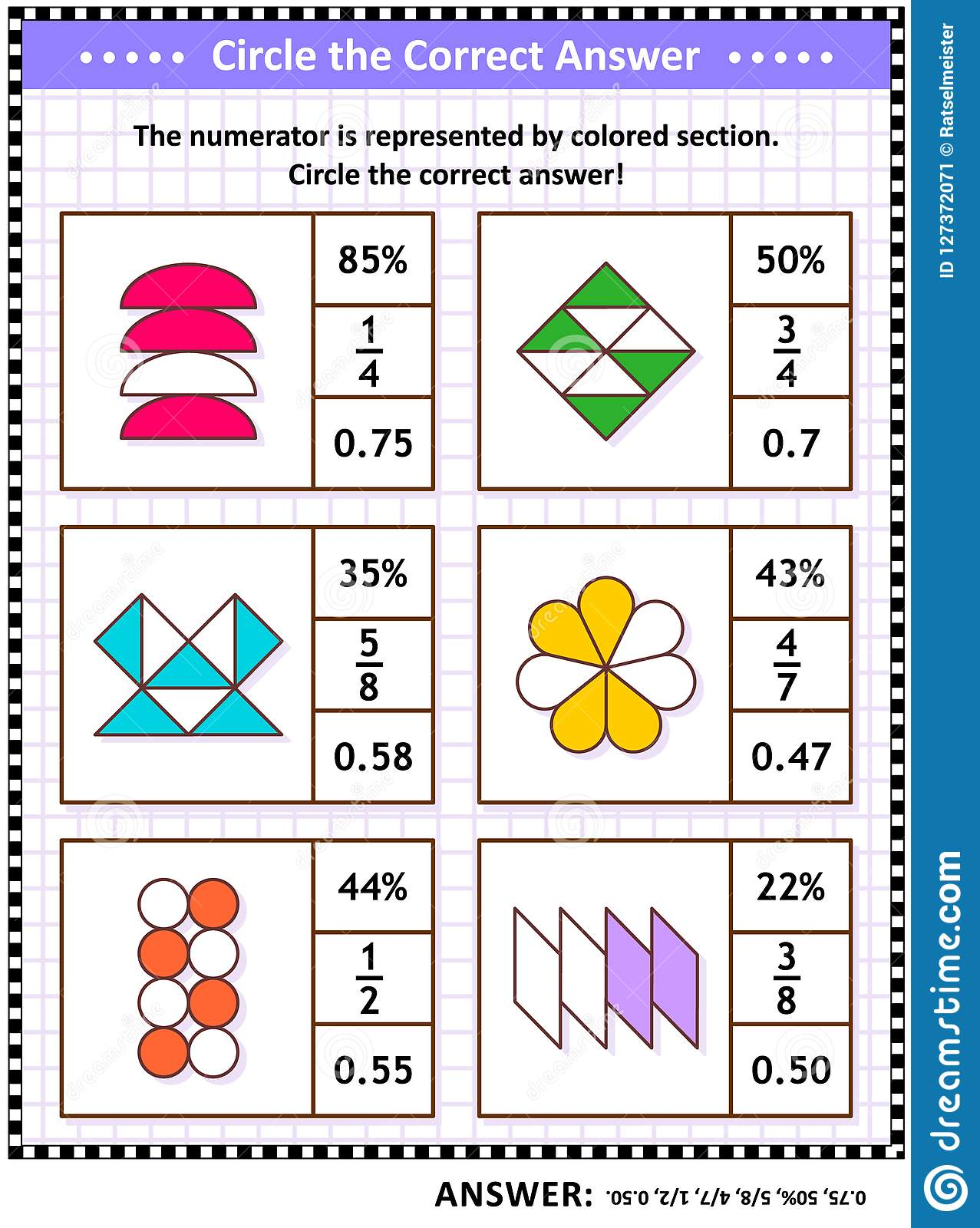 Math Skills Training Puzzle Or Worksheet With Visual