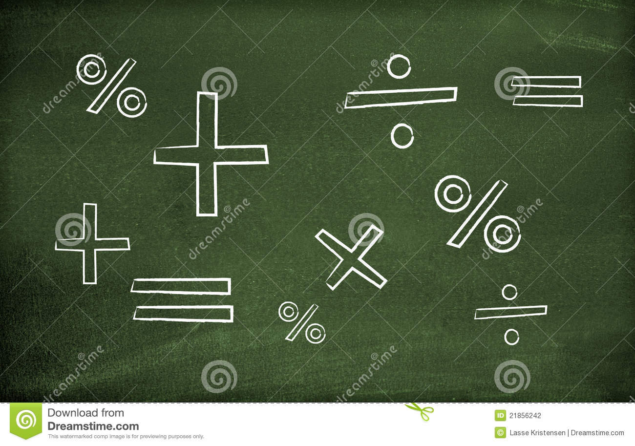 Math Symbols Stock Photo Image Of Chalkboard Science
