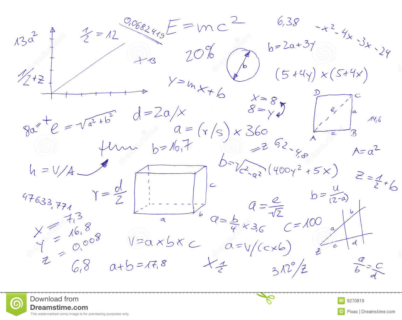 Mathematical Equations Stock Illustration Illustration Of