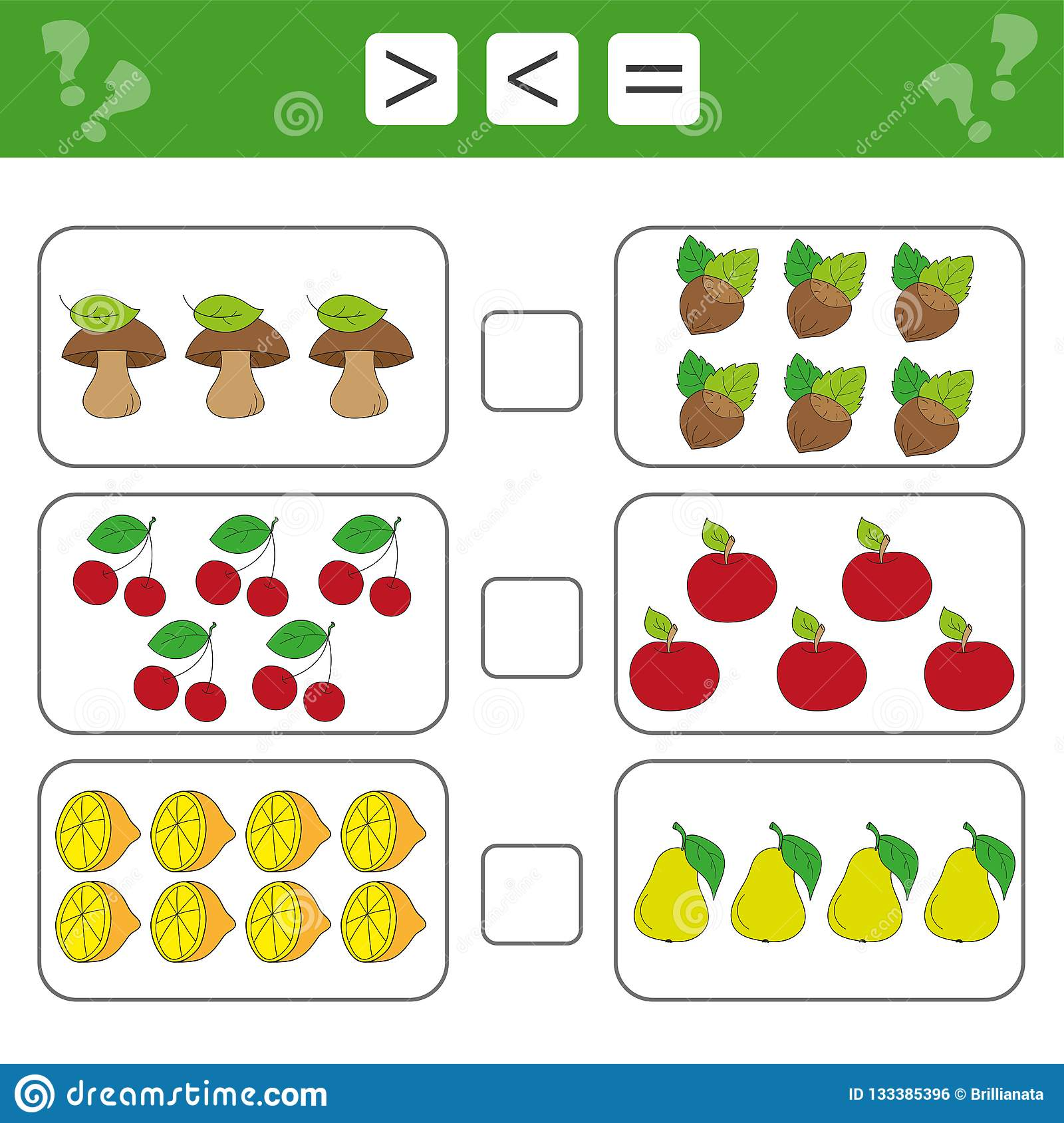 Mathematics Worksheet For Kids Count Educational Children