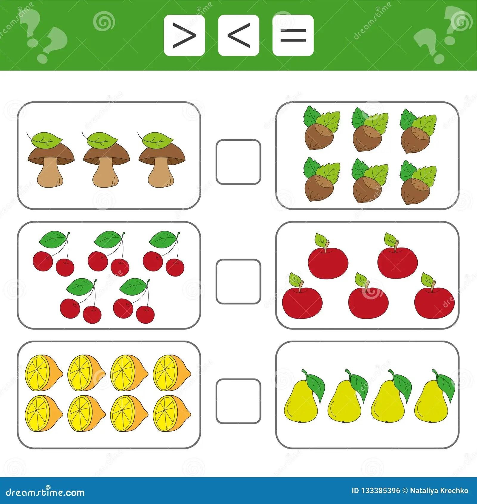 Mathematics Worksheet For Kids Count Educational Children