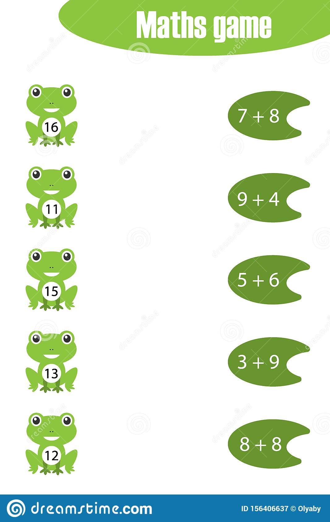 Maths Game With Pictures Of Pond Life For Children Easy