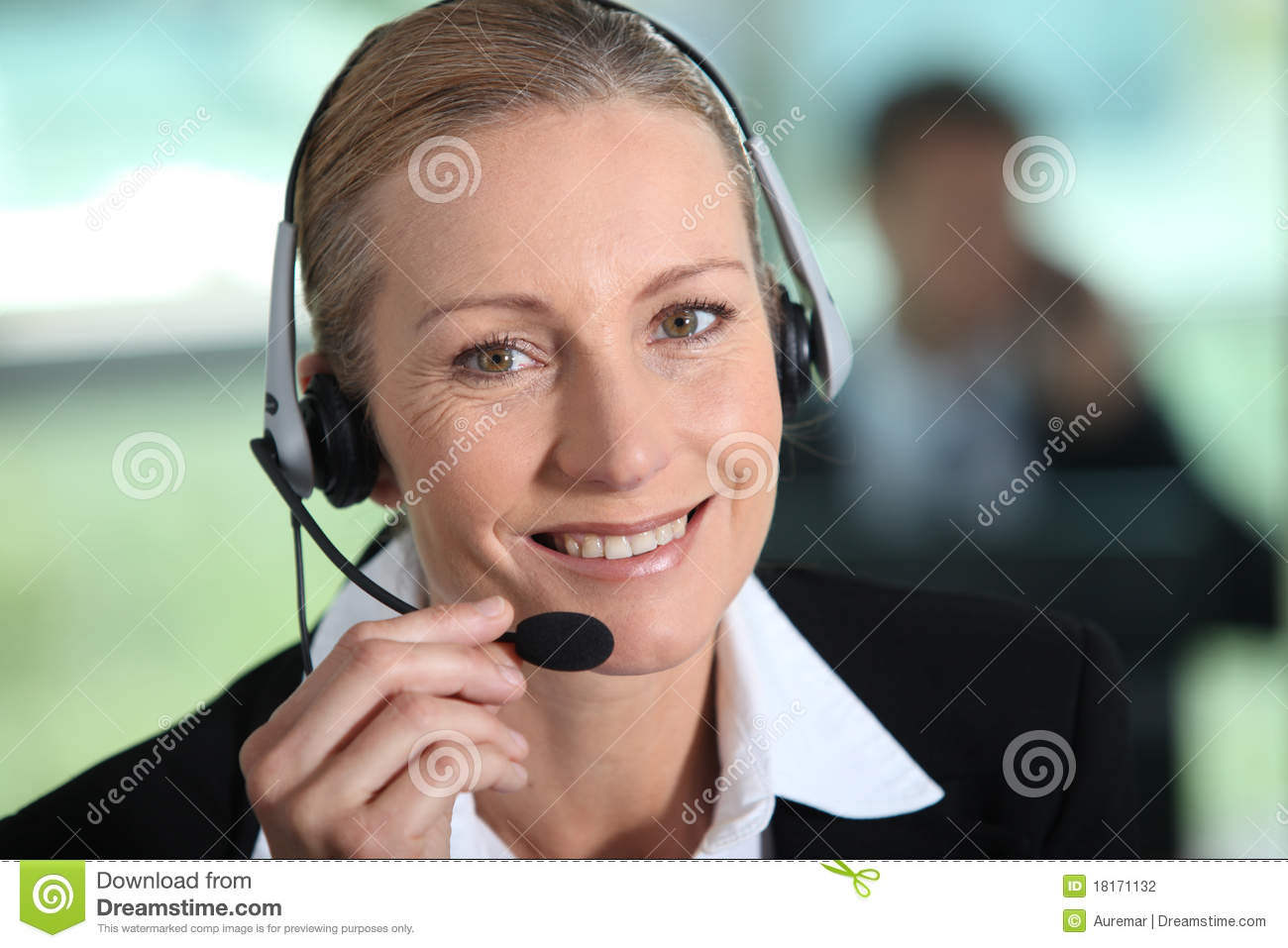 Background Front Receptionist White