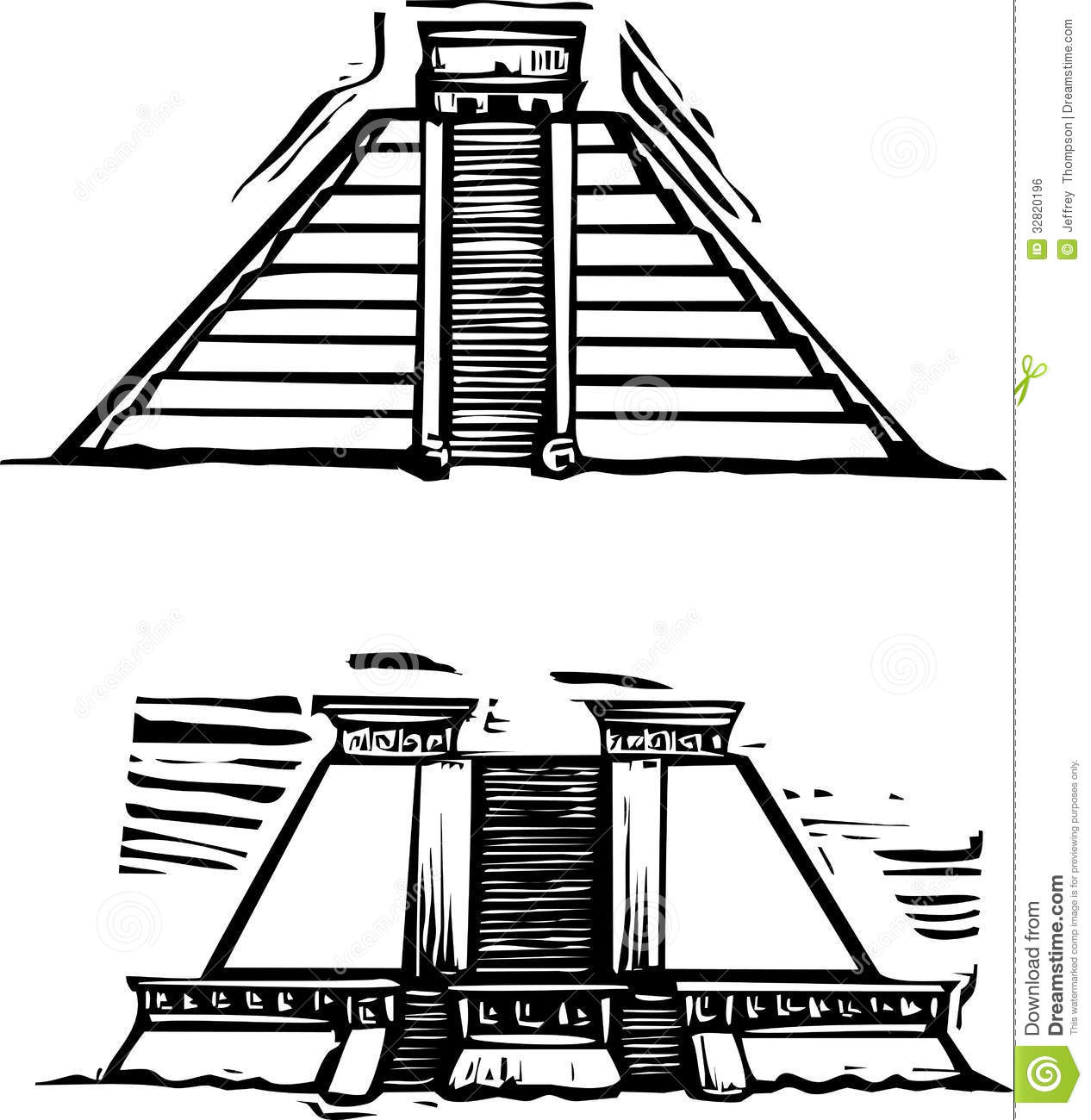 Aztec Pyramids Royalty Free Stock Photography