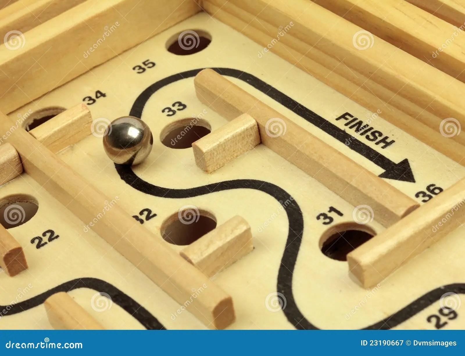 Maze And Ball Game Stock Image Image Of Pitfall Path
