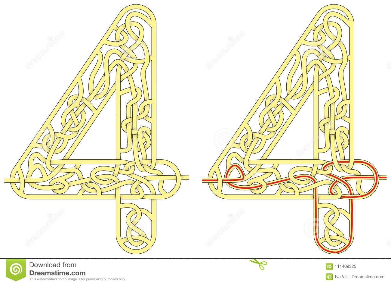 Maze Four Stock Vector Illustration Of Contour Motor
