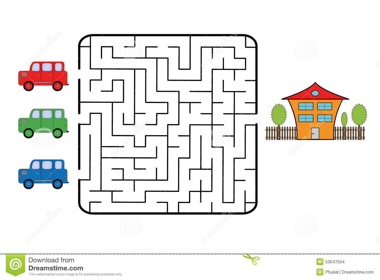 Maze Stock Vector Illustration Of House Find Mystery