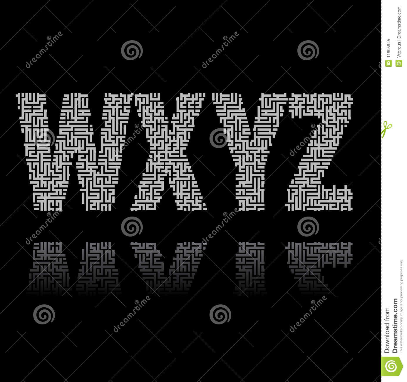Maze Letters Royalty Free Stock Photo