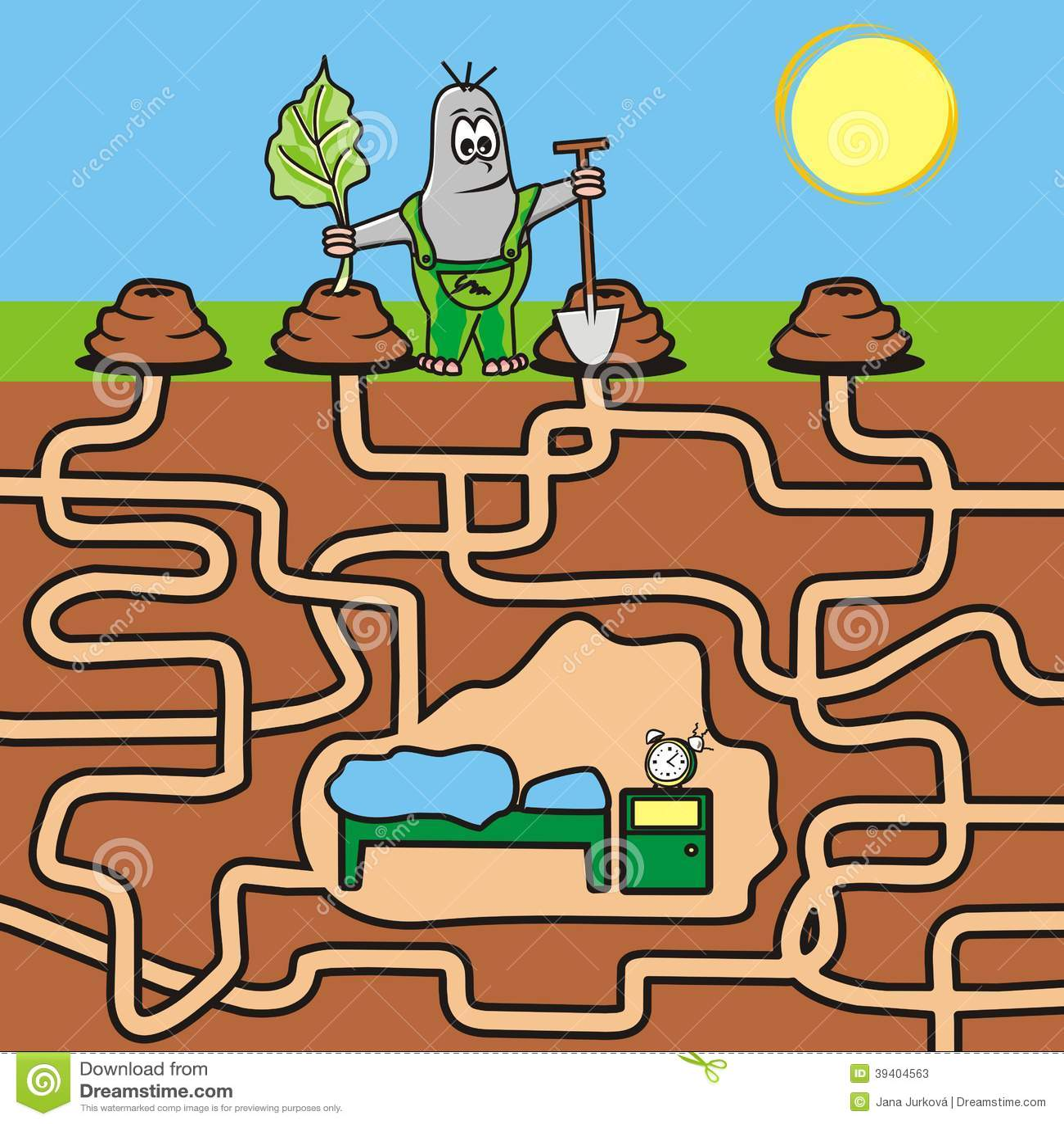 Maze Mole Stock Vector Illustration Of Eater Baby