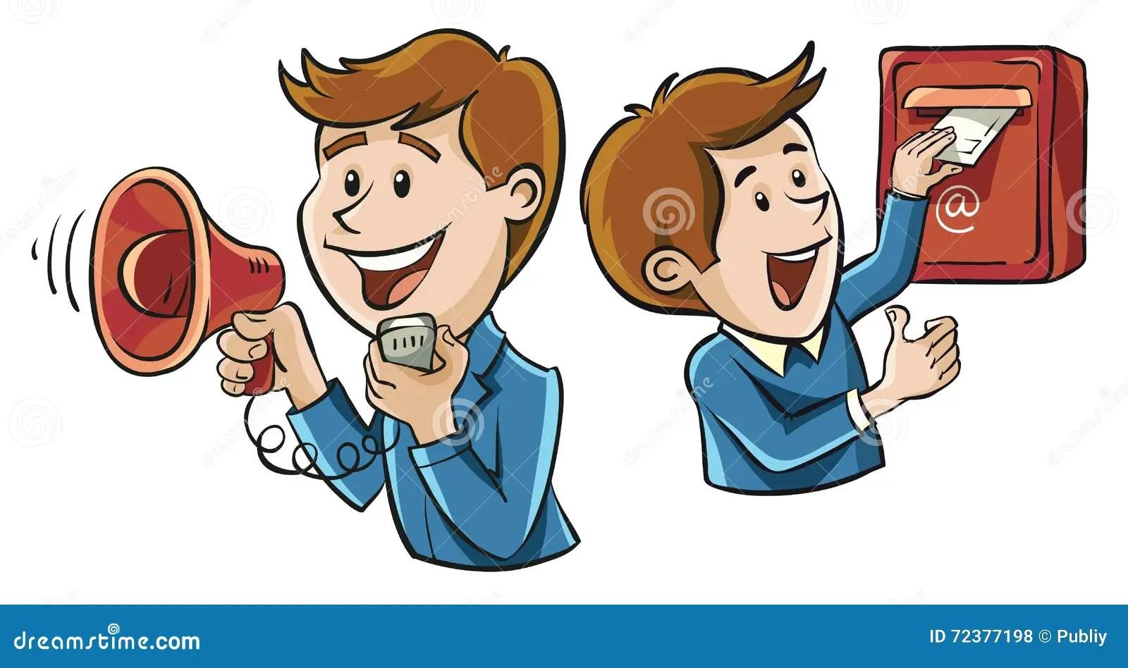 Means Of Communication Stock Illustration Illustration Of