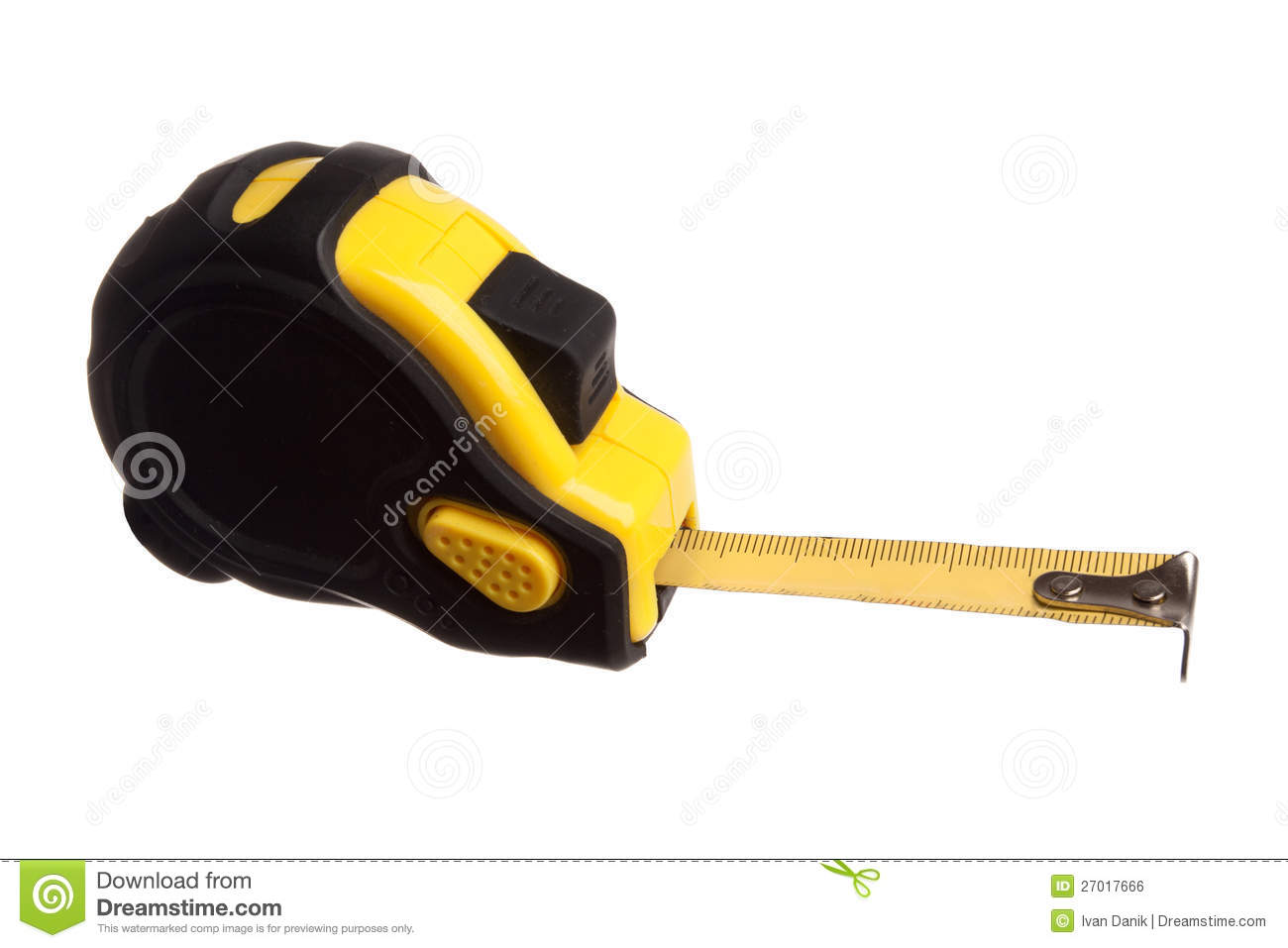 Measuring Tape With Blank Ruler Royalty Free Stock Image