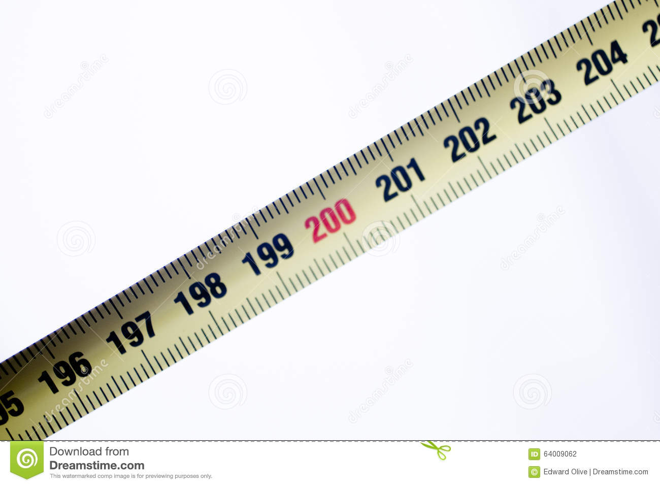 Measuring Tape Ruler Cm Numbers Stock Photo