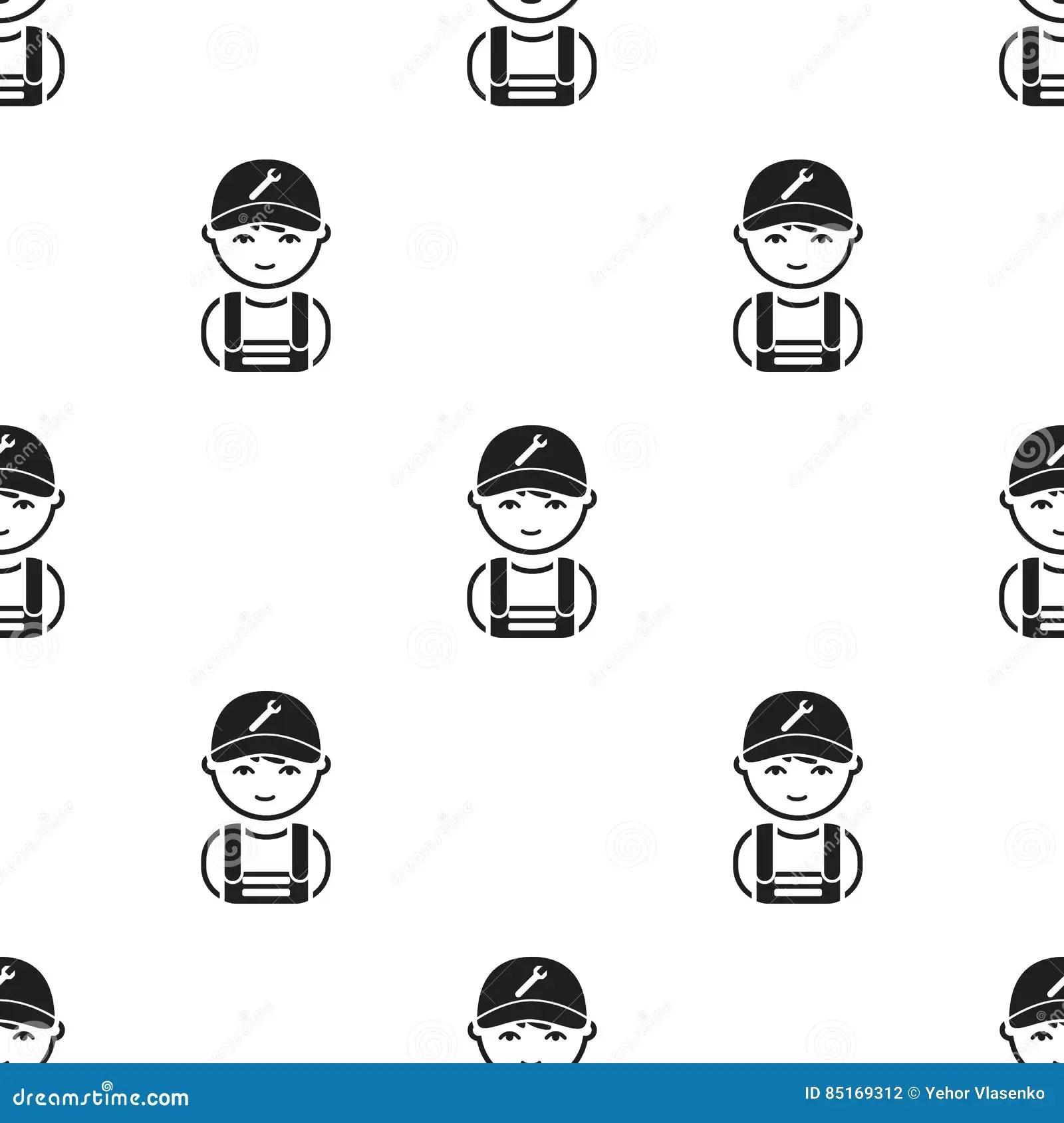 Black Mechanic Or Plumber Handyman Cartoon Vector