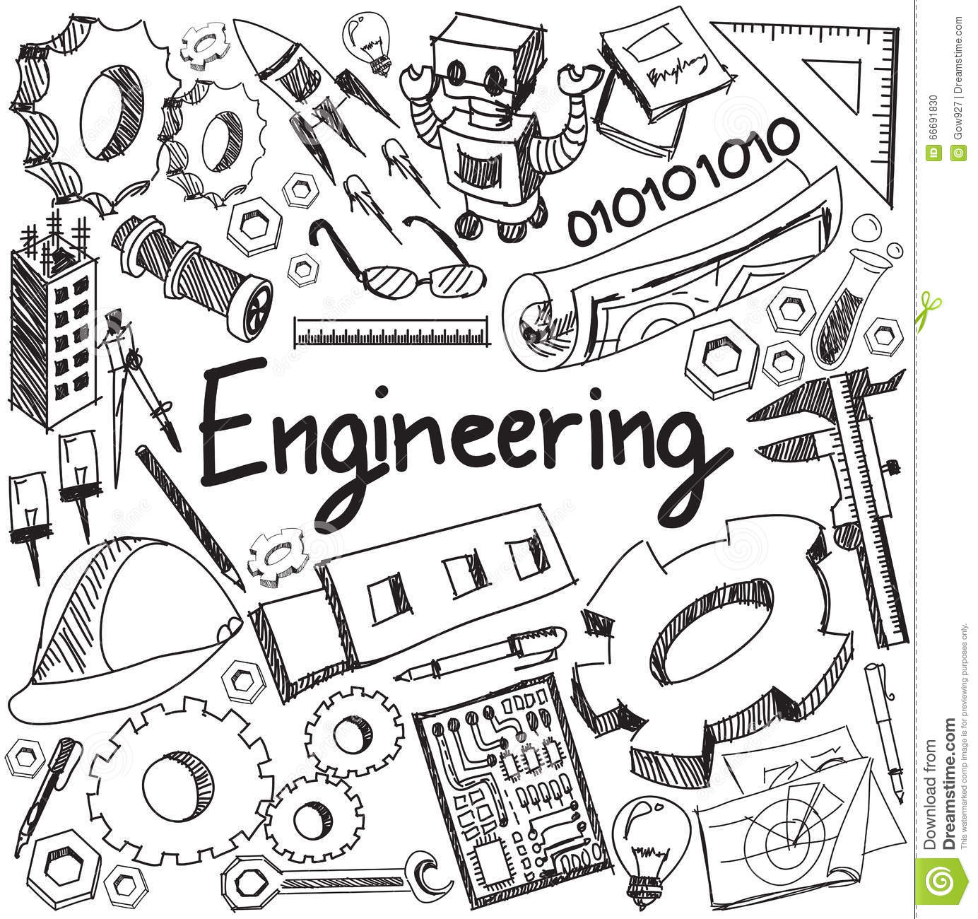 Mechanical Electrical Civil Chemical And Other Engineering Ed Stock Vector