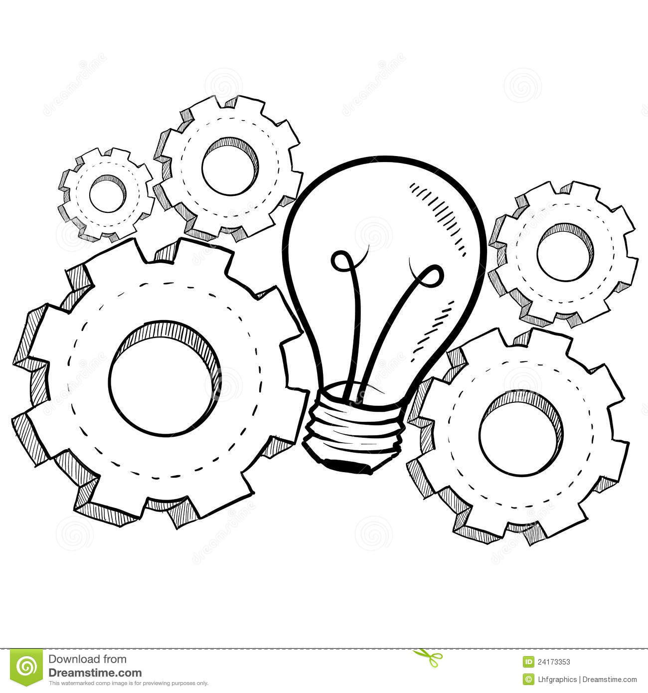 Mechanical Invention Sketch Stock Photos