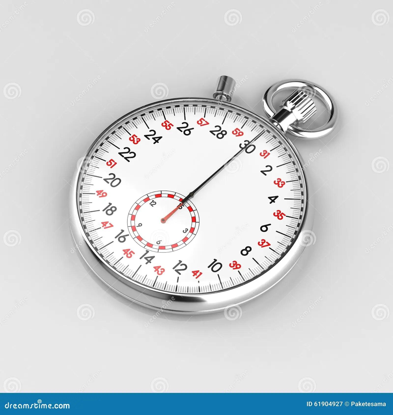 Mechanical Stopwatch Illustration Stock Illustration