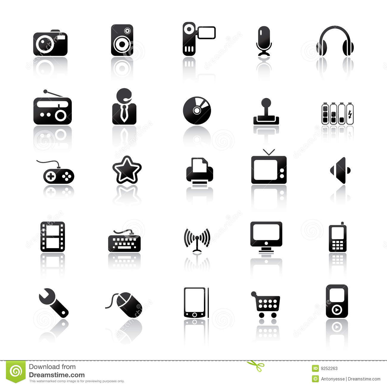 Media Icons Stock Vector Illustration Of Microphone