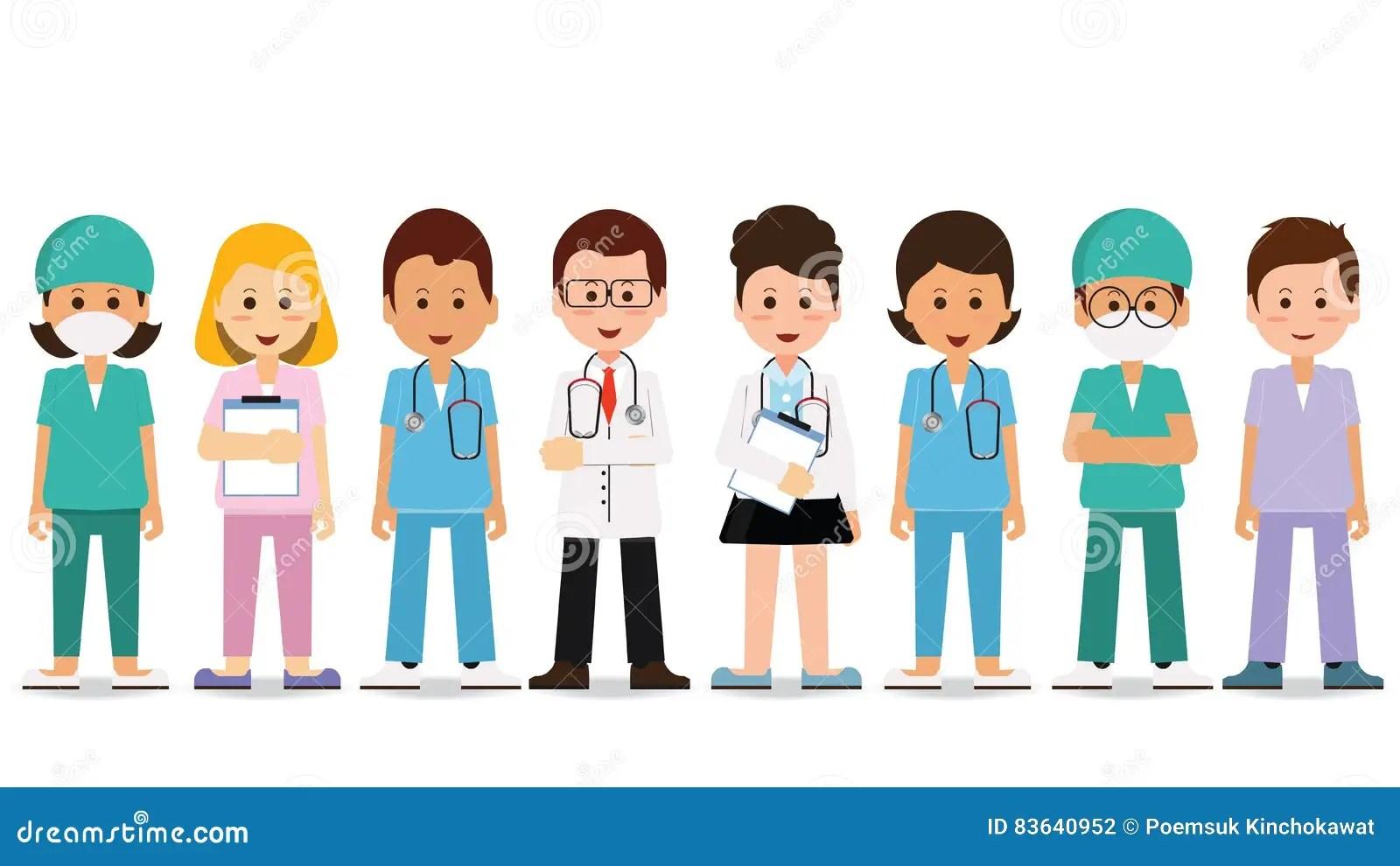 Hospital Medical Staff Team Doctors Together Group Of