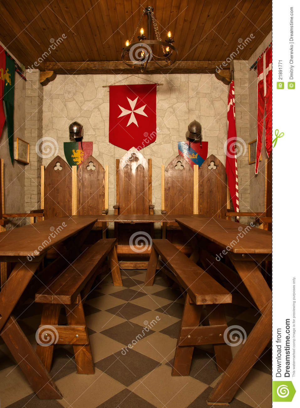Medieval Castle Interior Stock Image Image Of
