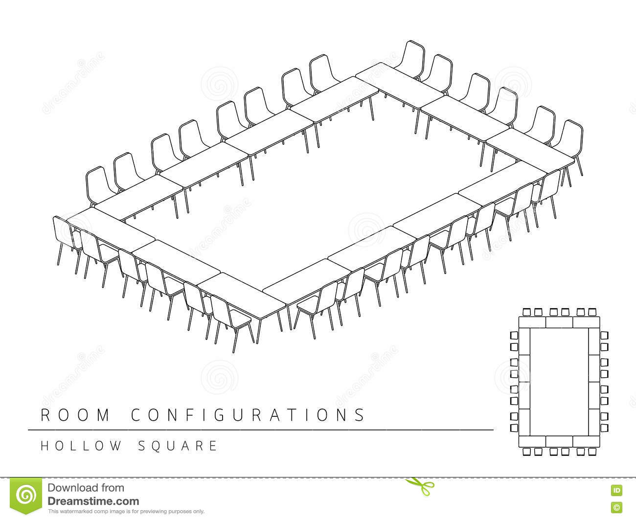 Meeting Room Setup Layout Configuration Hollow Square
