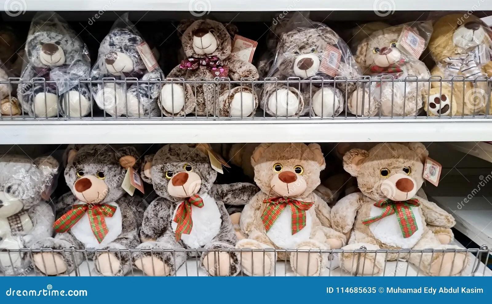 Teddy Bear On Shelf Rack Editorial Image Image Of Many
