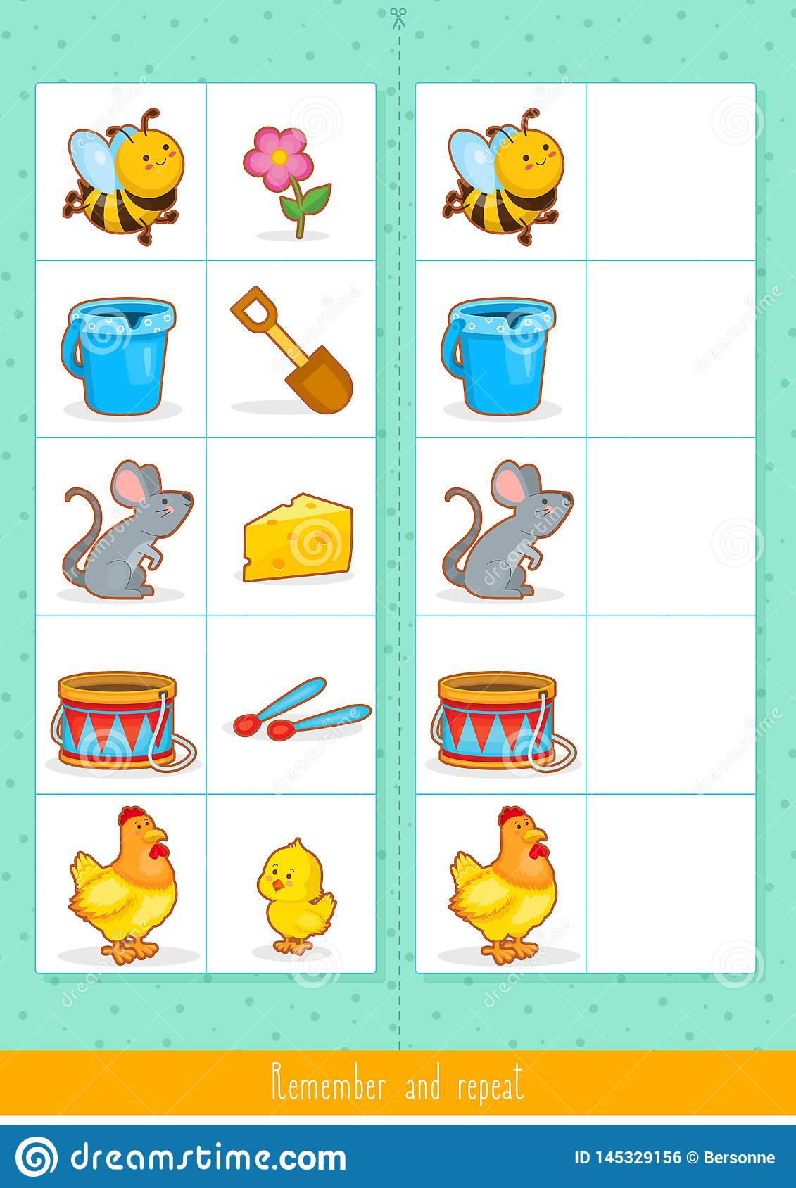Memory Game For Kids Find Difference Educational