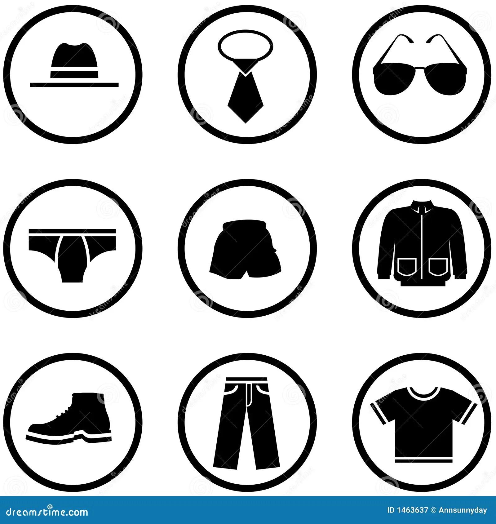 Men Clothes Icon Set Stock Illustration Illustration Of