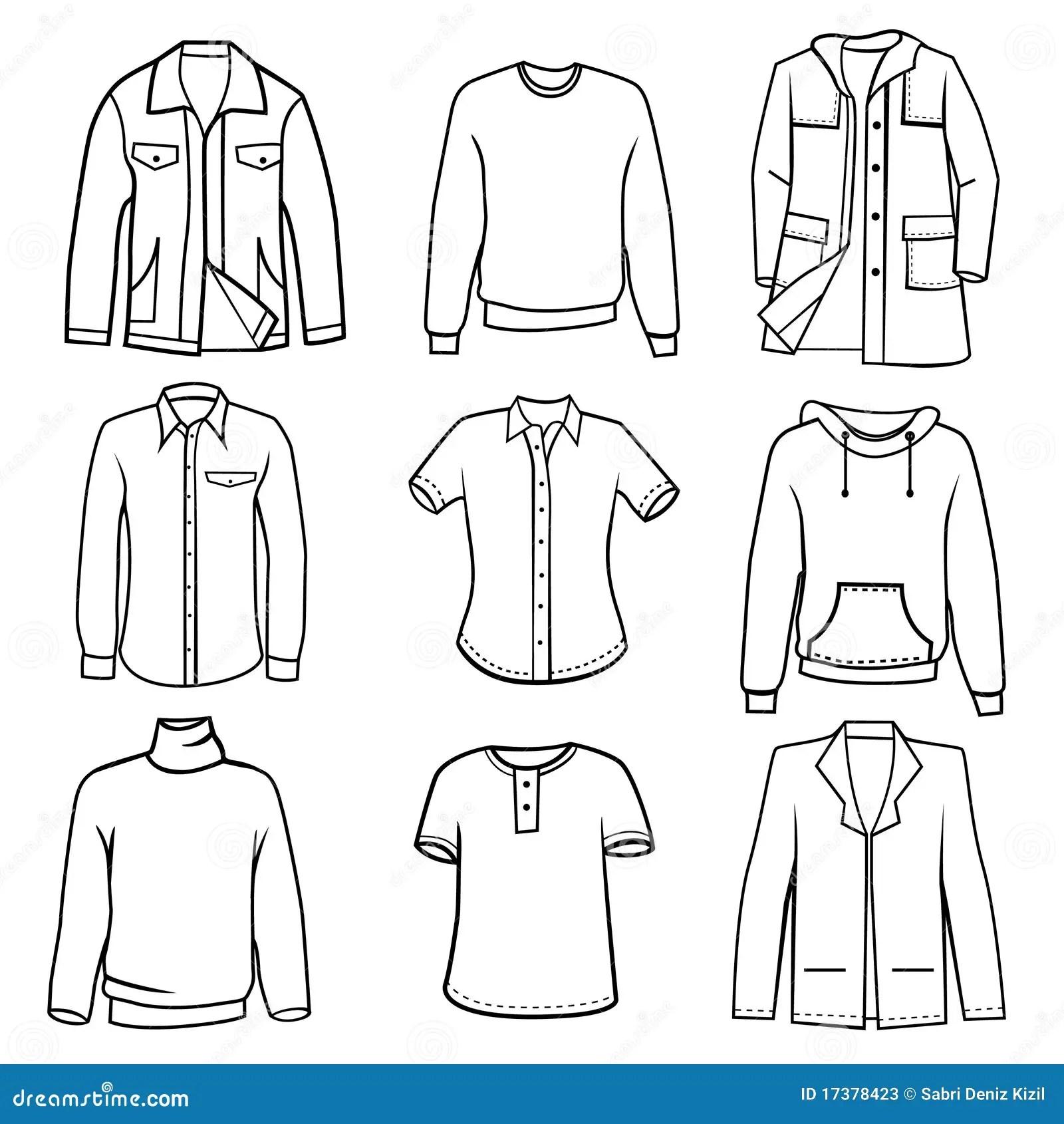 Men S Clothes Stock Vector Illustration Of Illustration