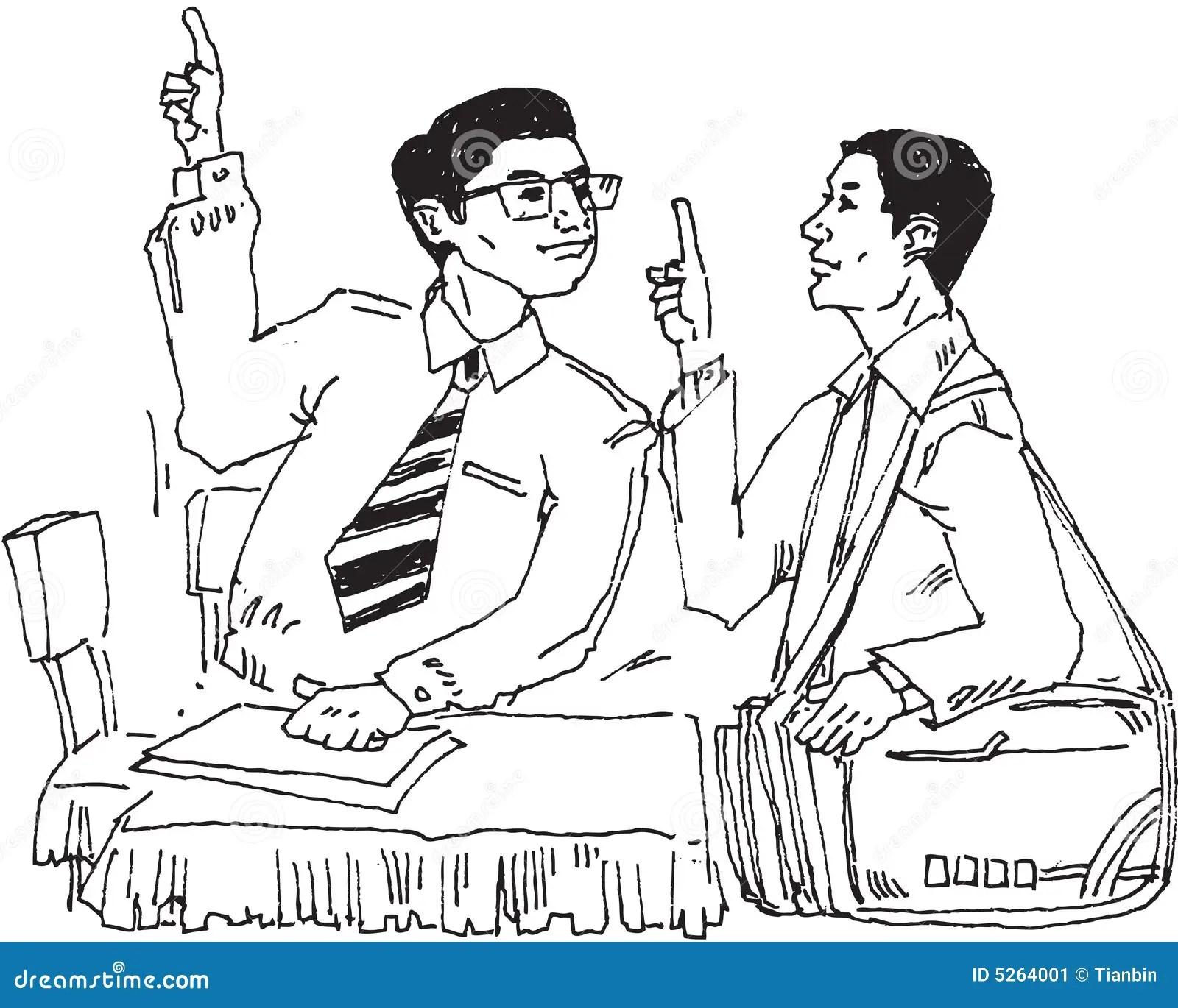 Men Talking Stock Image
