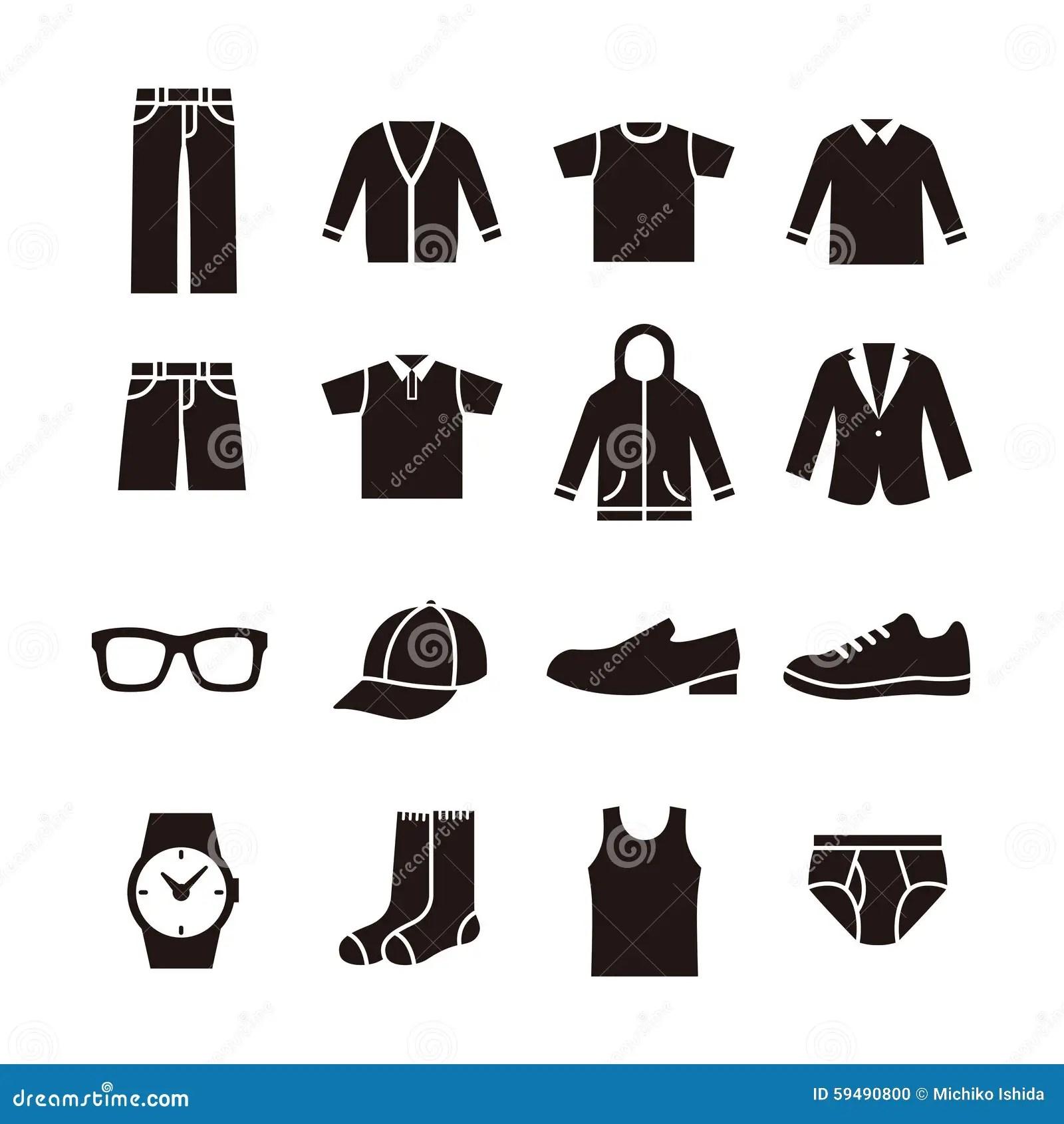 Mens Fashion Icon Stock Illustration