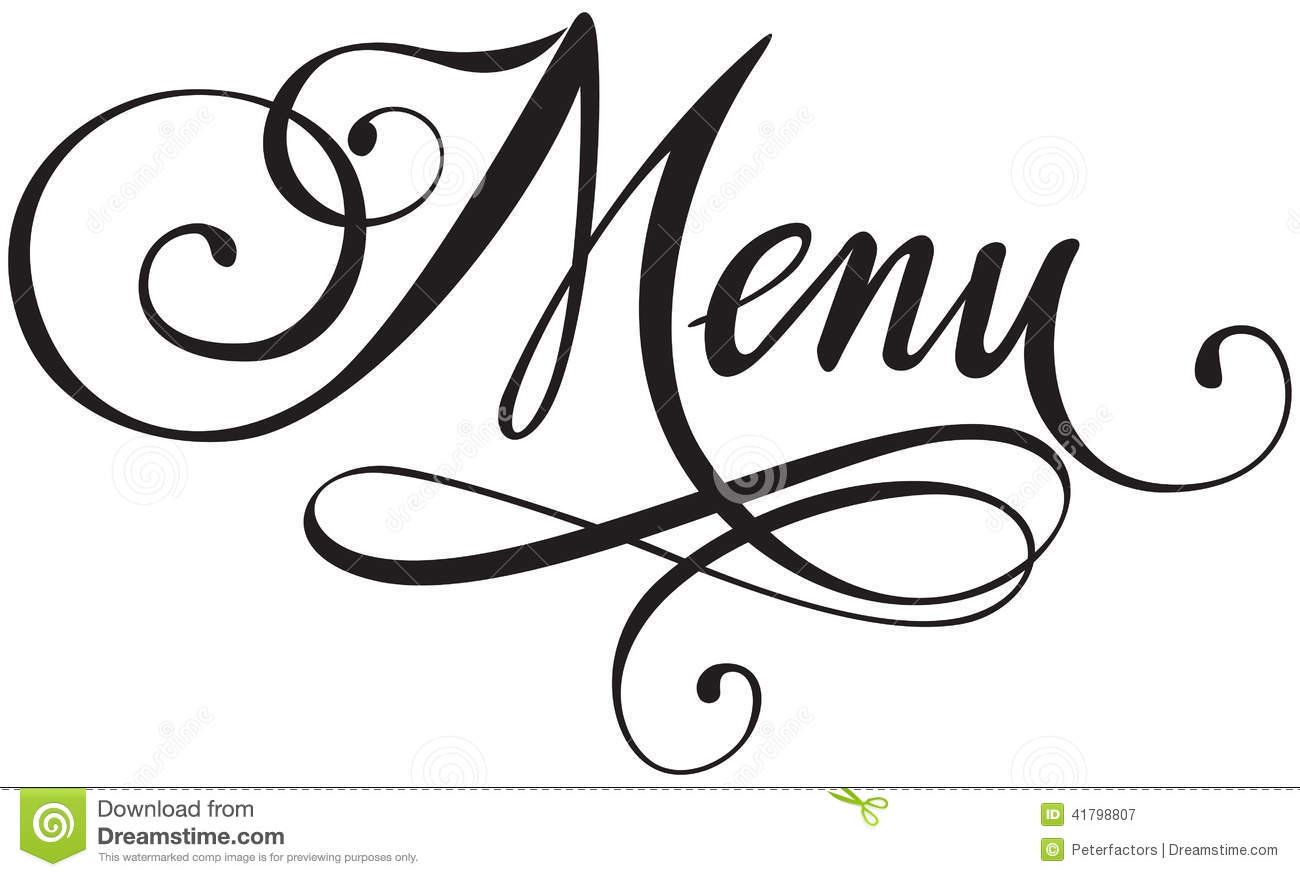Menu Stock Vector Illustration Of Written Typescript
