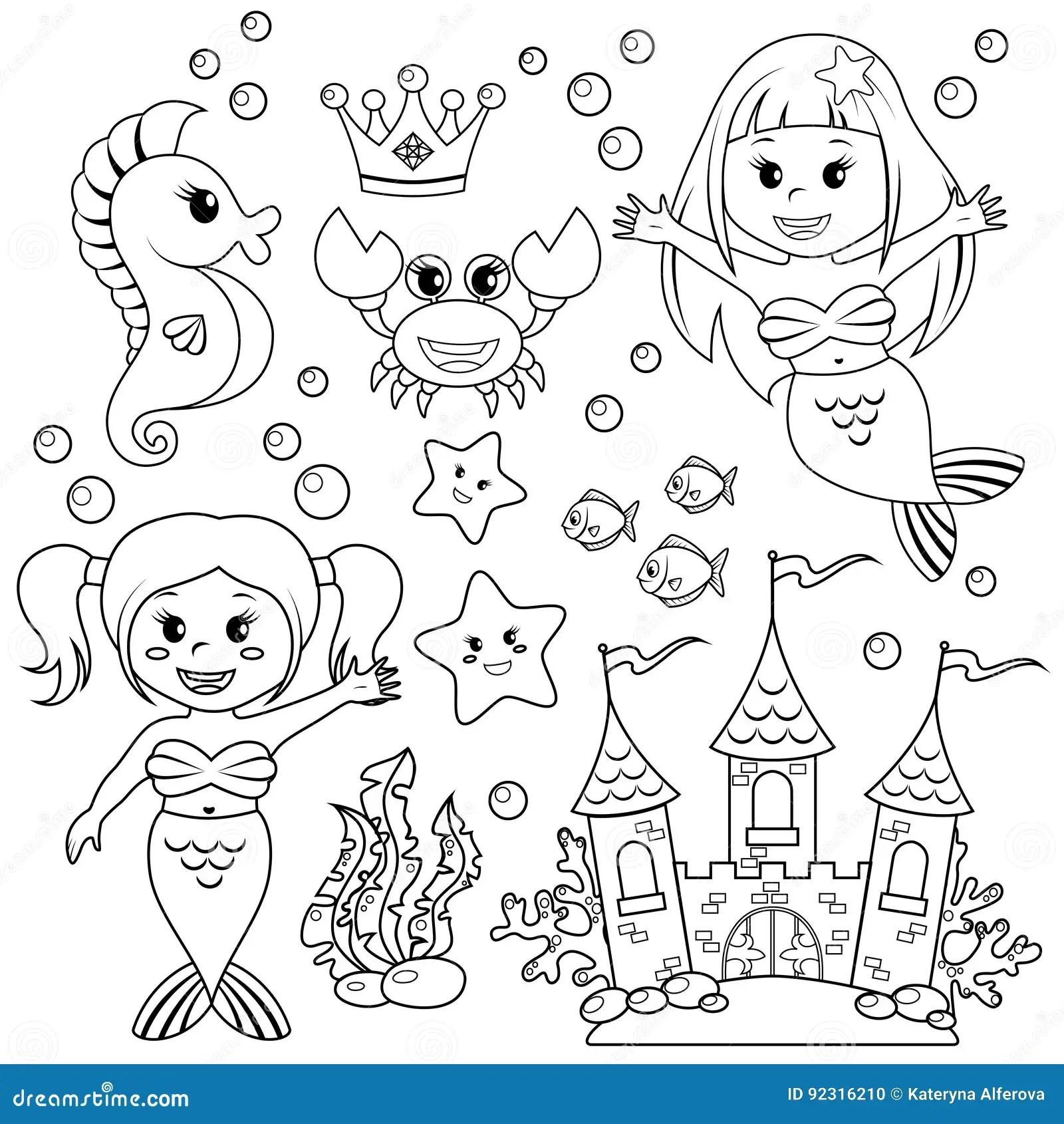 Mermaid Castle Vector Illustration
