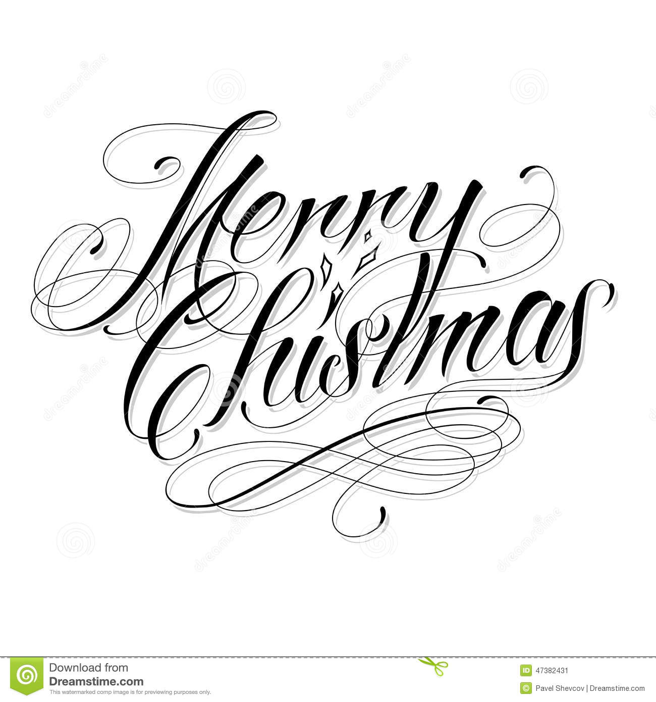 Merry Christmas Stock Vector Image Of Ornate Celebration