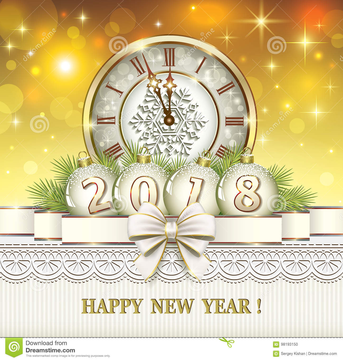 Merry Christmas And Happy New Year Stock Vector