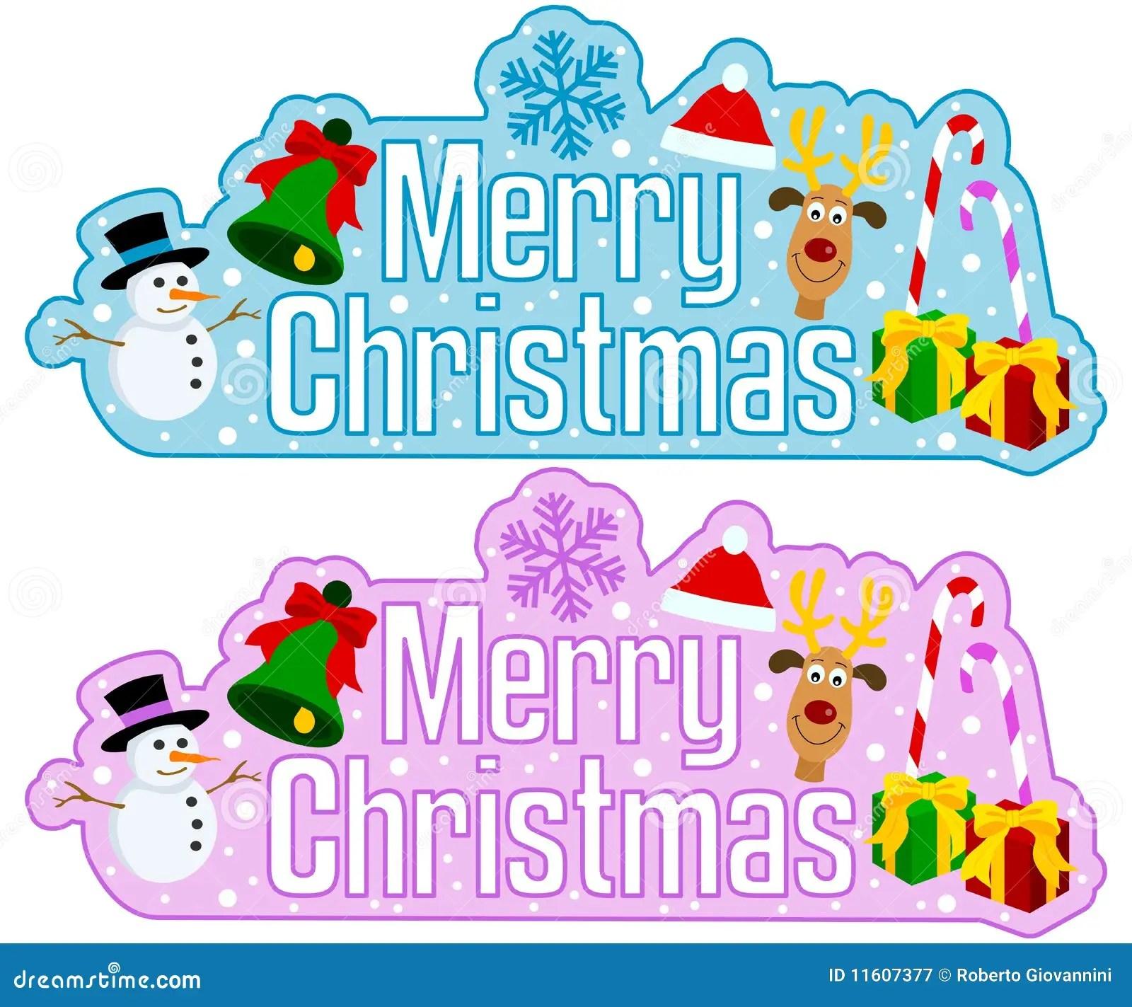 Merry Christmas Headline Stock Vector Image Of Isolated 11607377