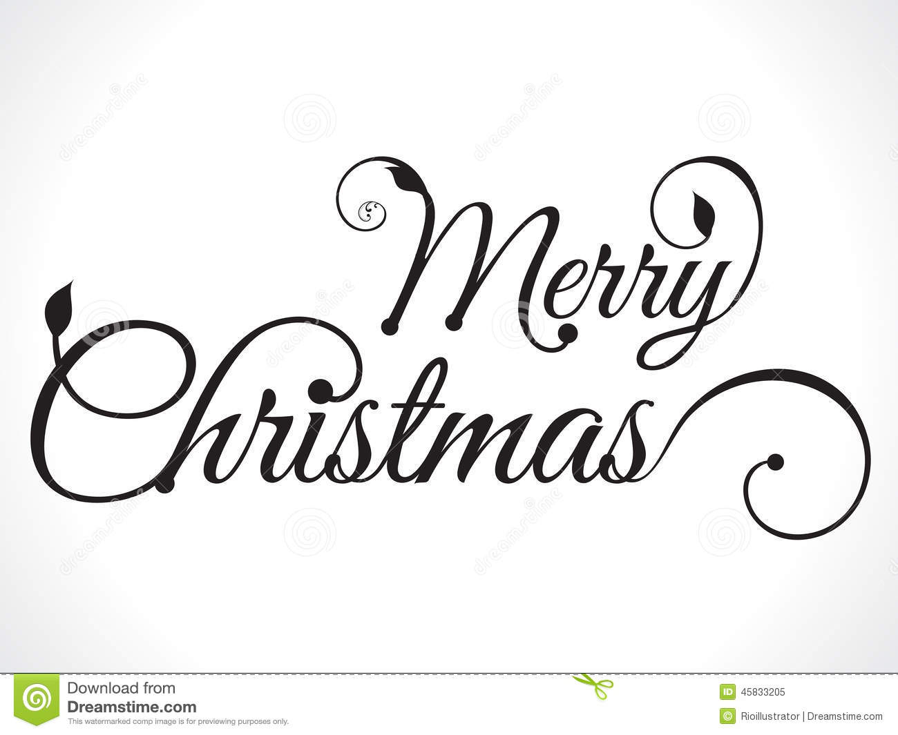 Merry Christmas Text Background Stock Vector