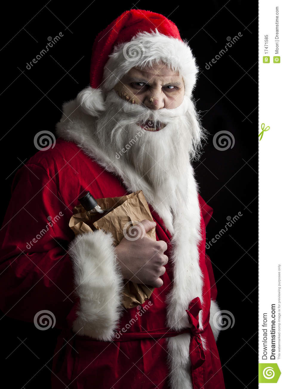 Merry Scary Christmas Royalty Free Stock Photo Image