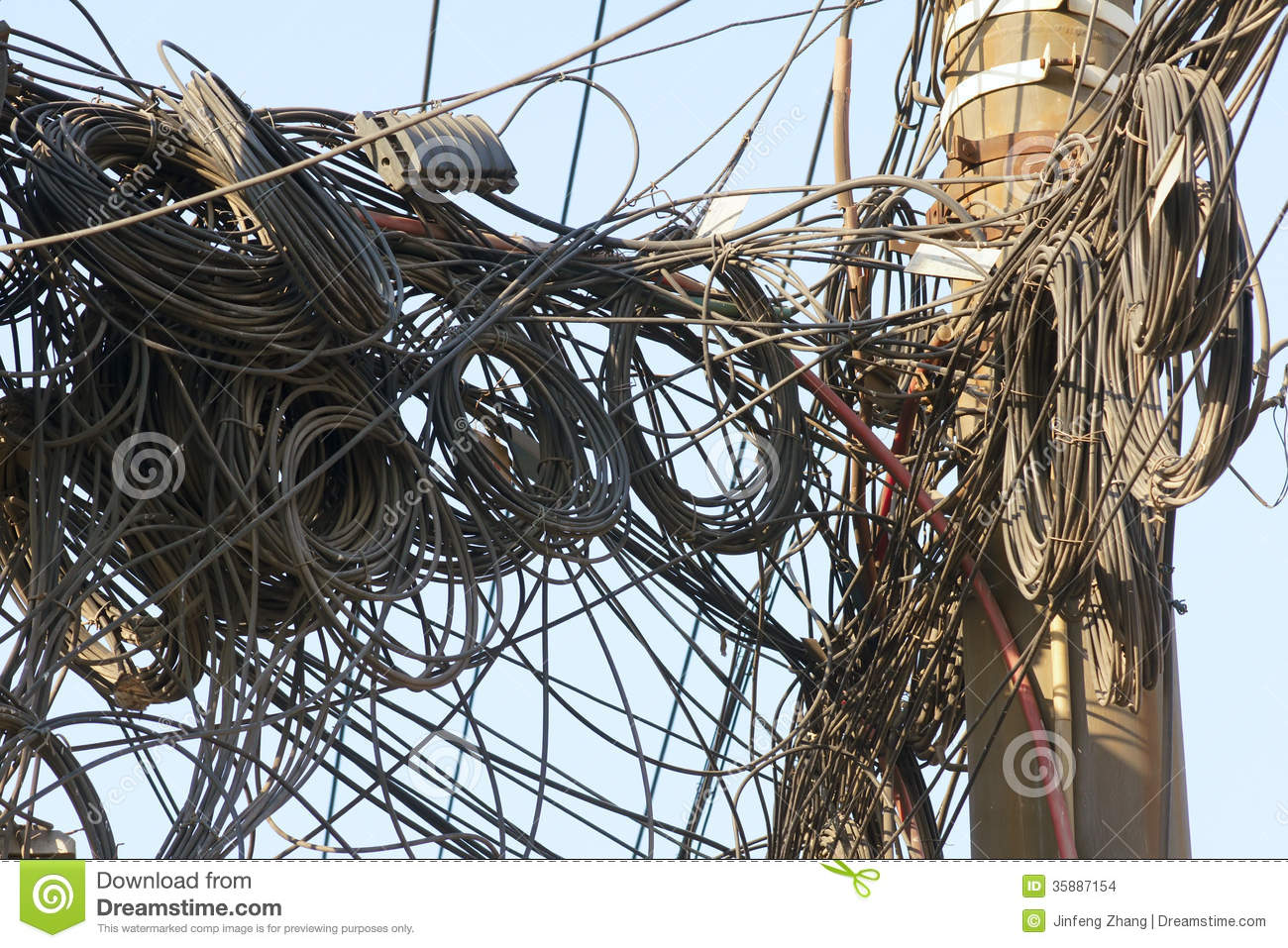 Mess Telephone Wires