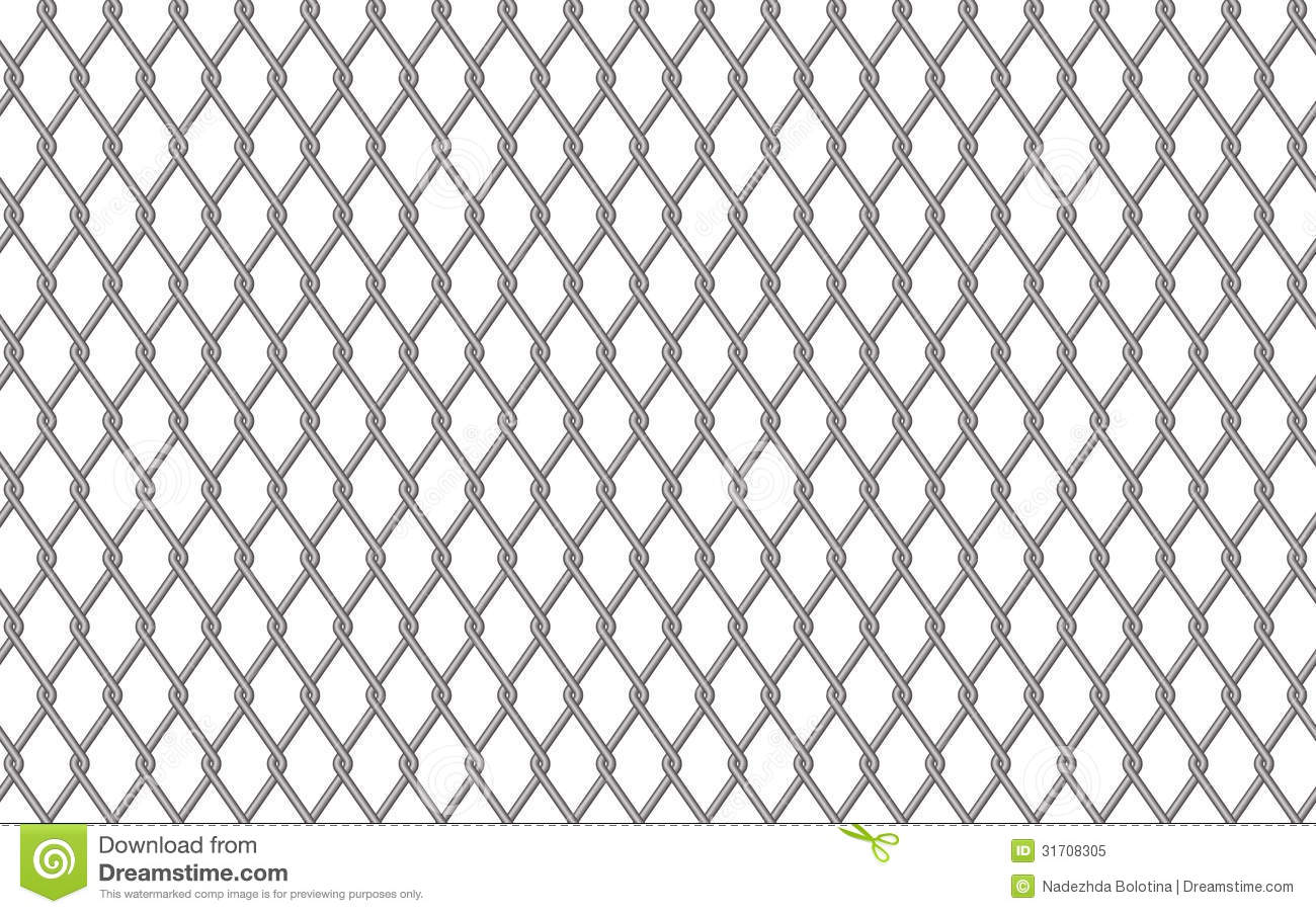 Metal Fencing Mesh Stock Vector Image Of Fence Isolated