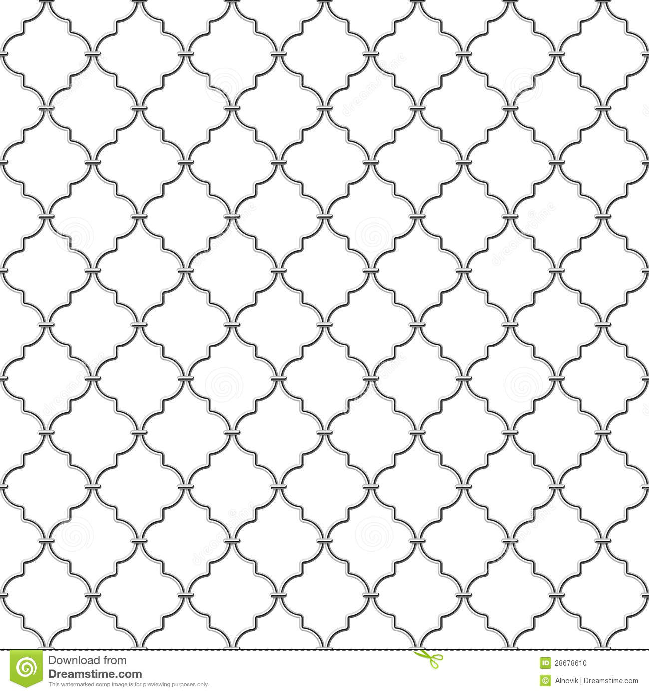 Metal Lattice Vector Illustration