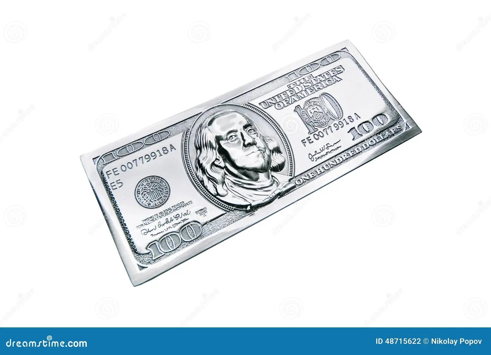 Metal One Hundred Dollars Stock Illustration