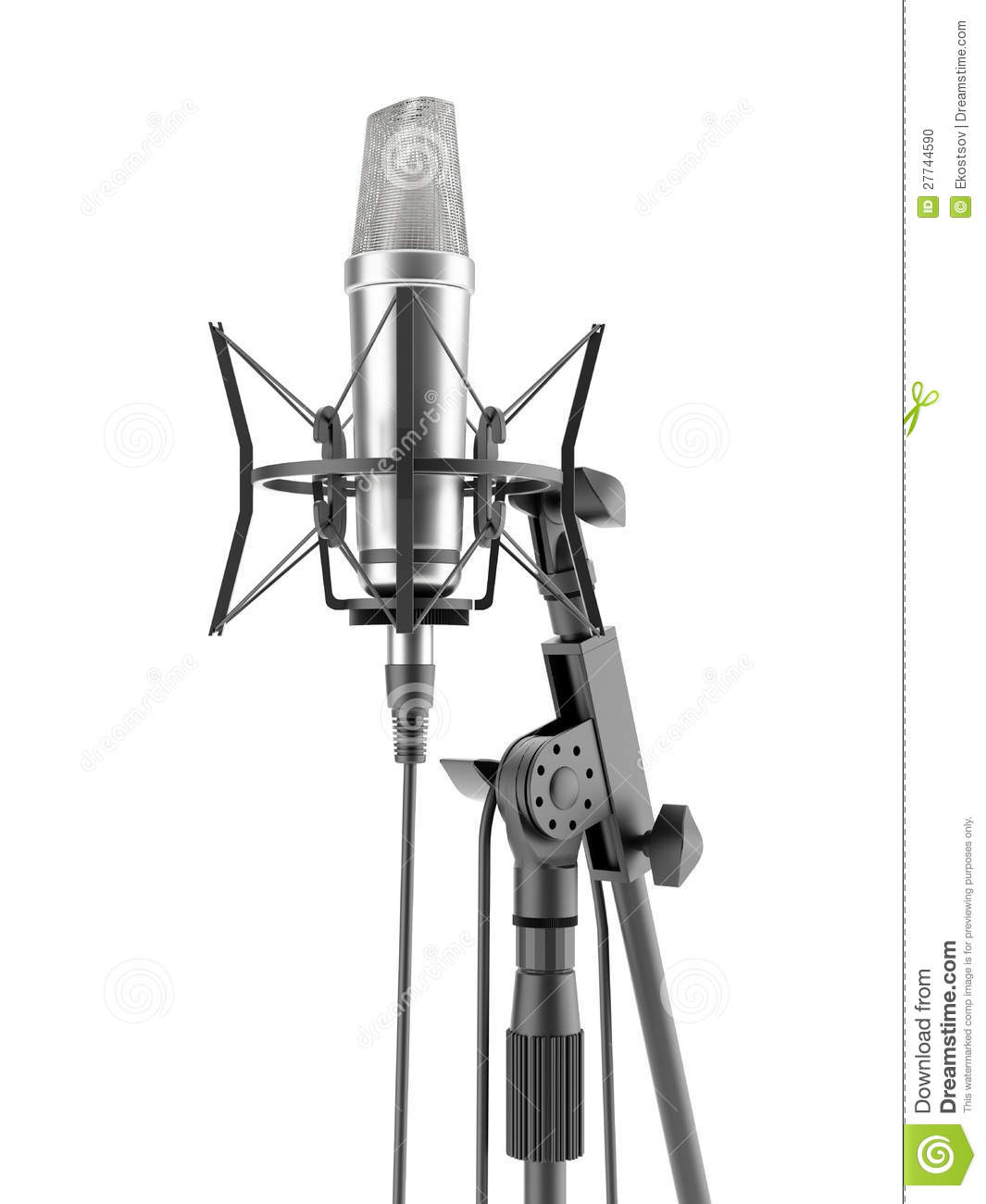Metal Studio Microphone Stock Photo