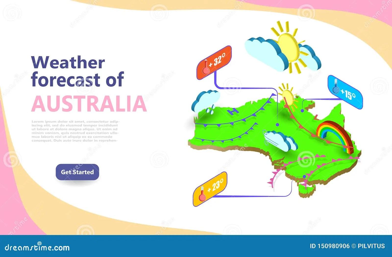 Meteorological Weather Forecast Map Of Australia