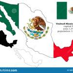 Mexican States Vector Map Flag Borders Mask Capital Area And Population Infographic Stock Illustration Illustration Of Background Industry 165511515