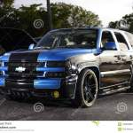 Classis Chevy Suv Blue And Black Editorial Stock Image Image Of Classis Black 108609869