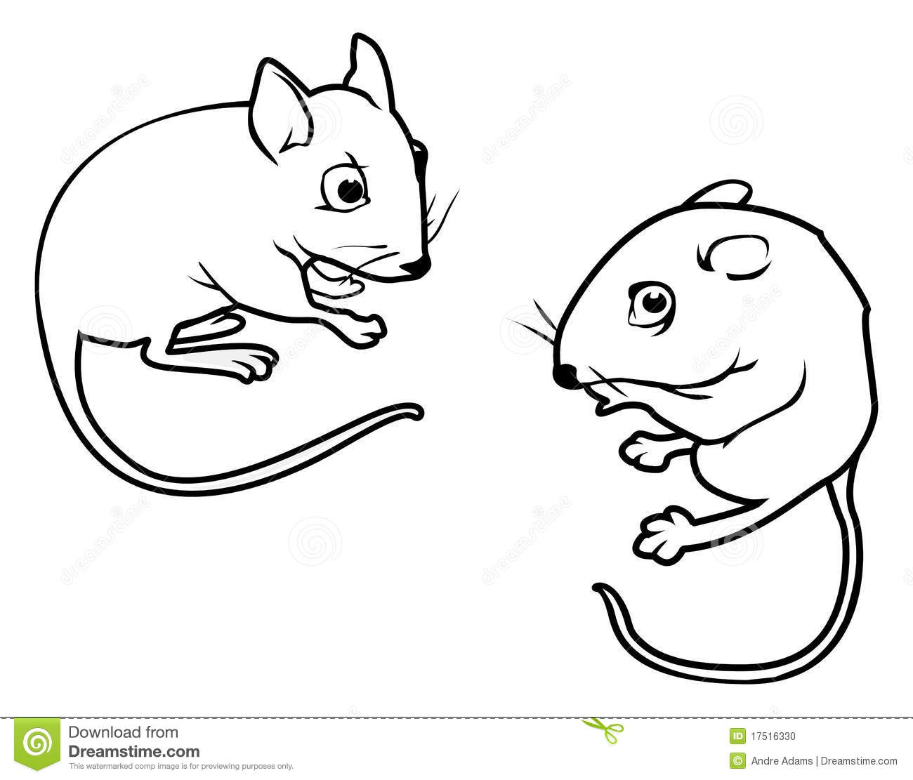 Mice Outlines Stock Photo