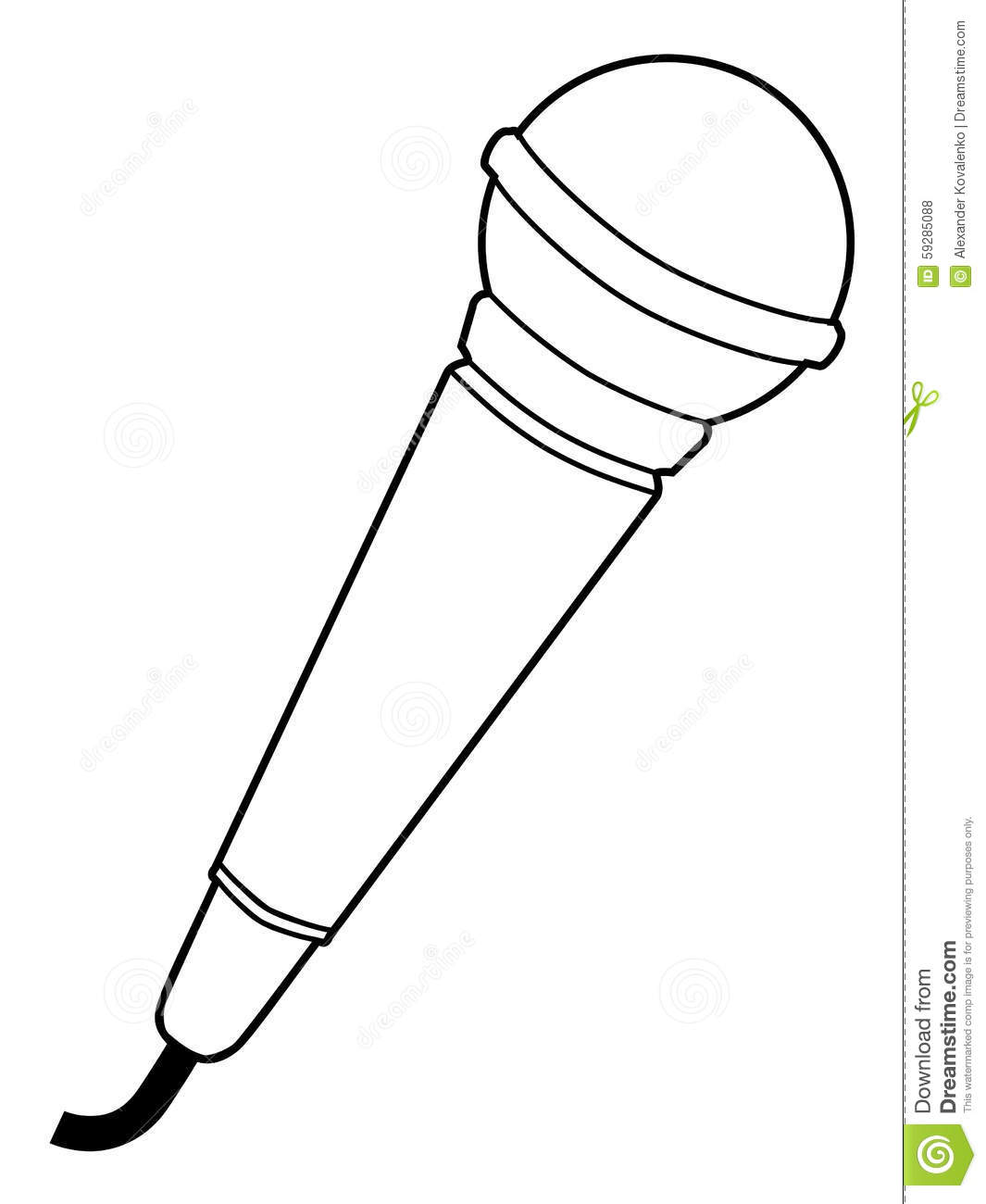 Microphone Audio Equipment Stock Illustration