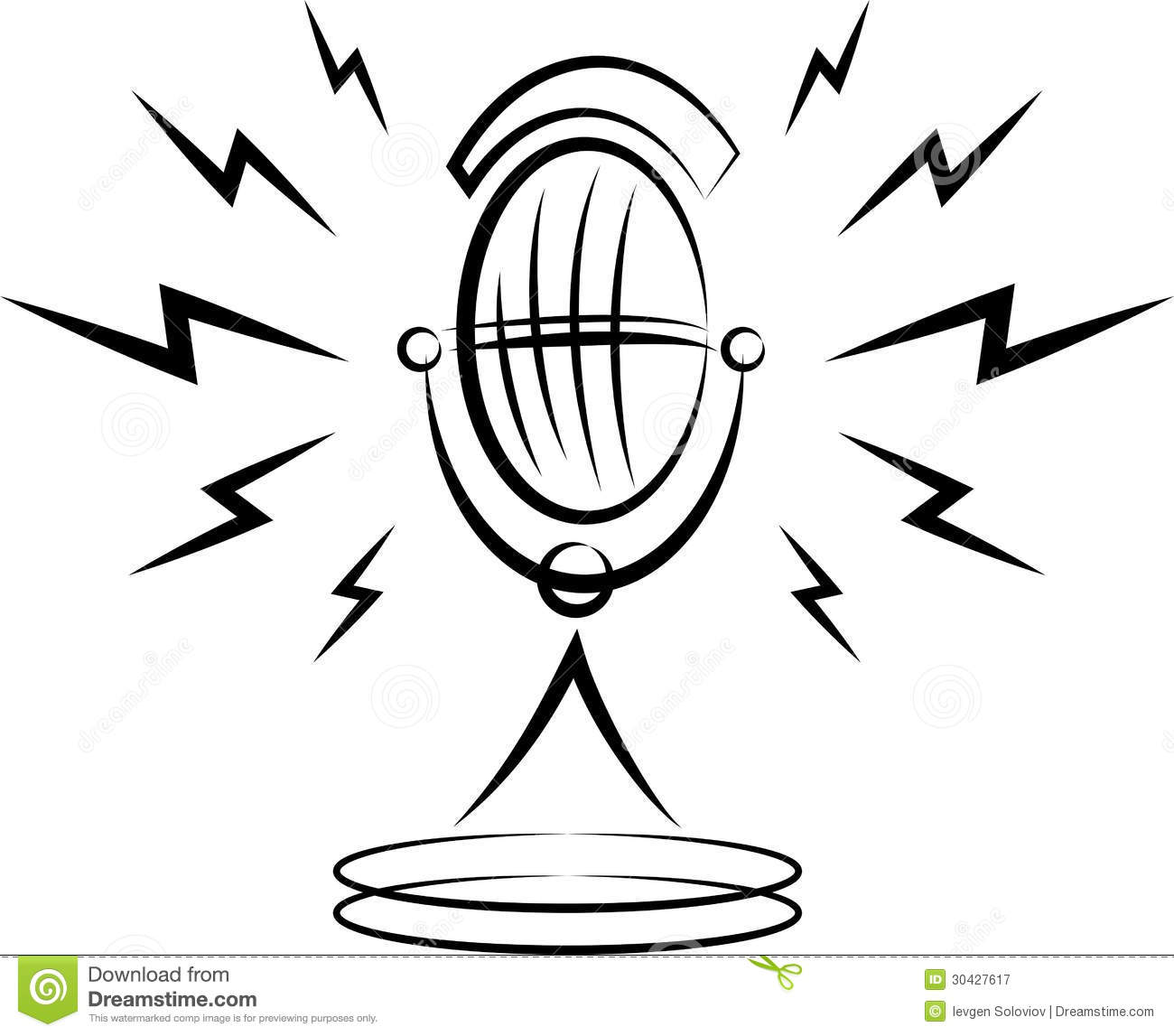 Microphone Stock Vector Image Of Image Concert Isolated