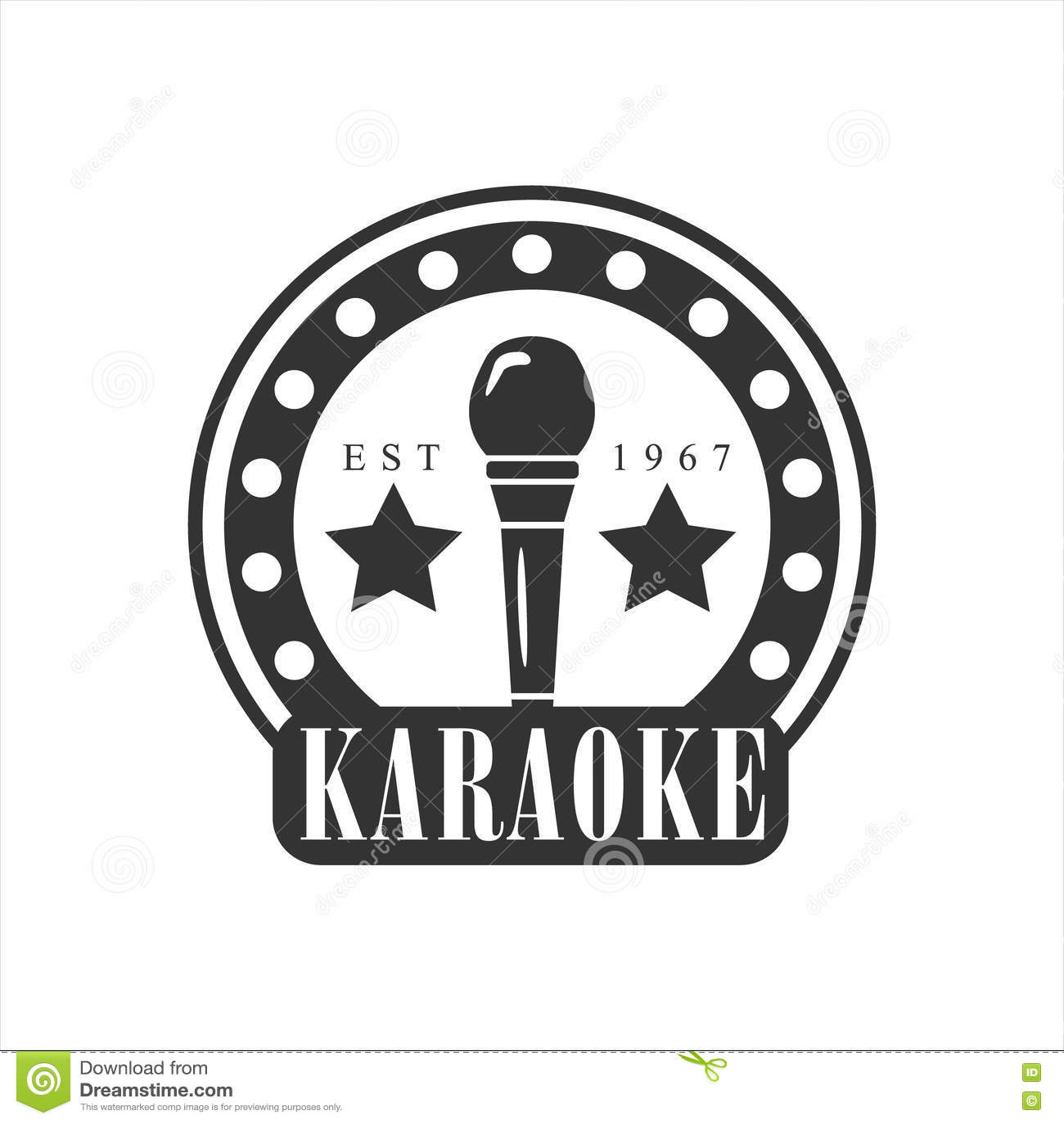 Microphone In Round Frame Karaoke Premium Quality Bar Club