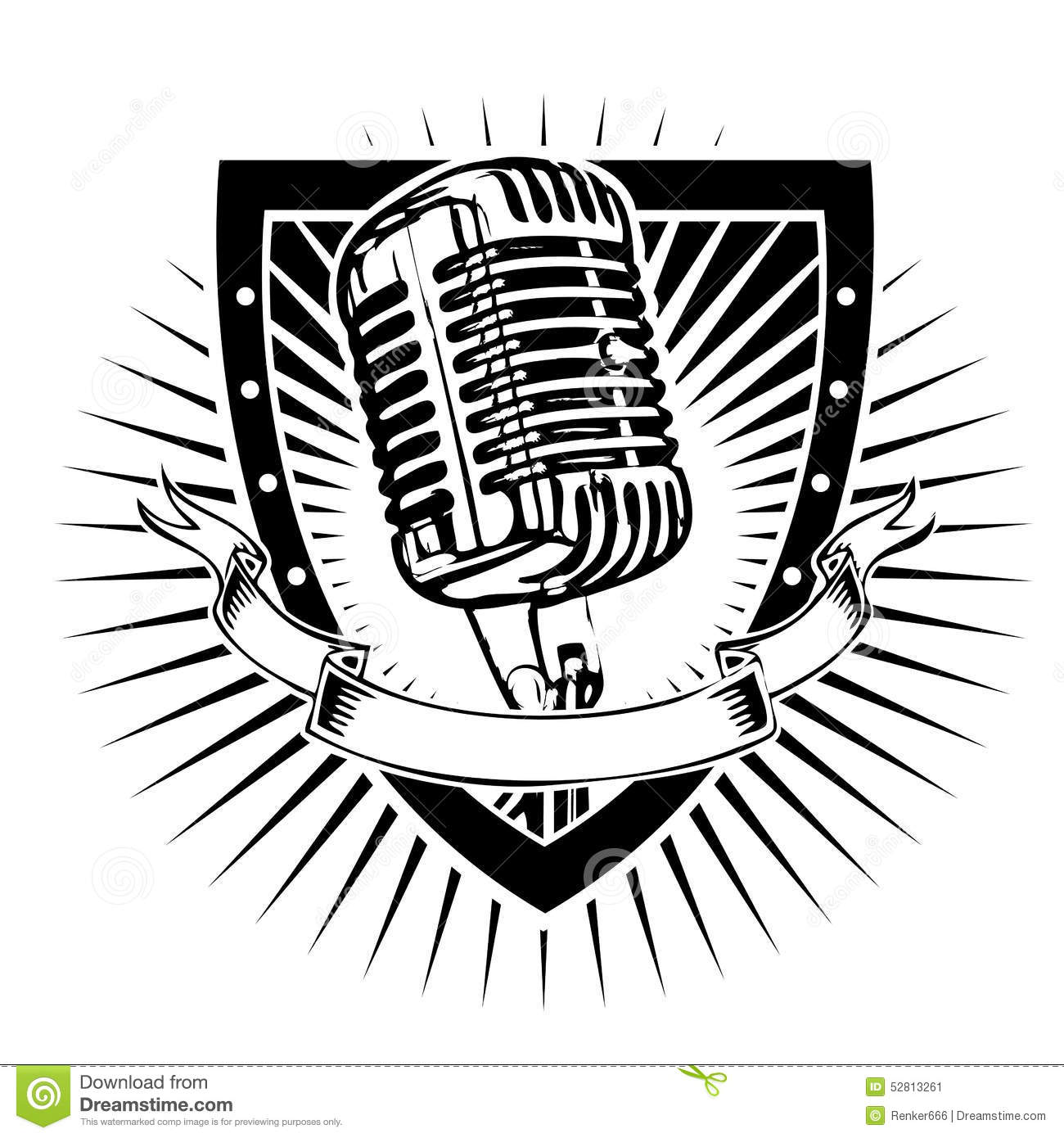 Microphone Shield Stock Vector